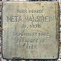Stolperstein Stierstr 14-15 (Fried) Meta Mannheim.jpg