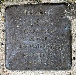 Photo of Else Lachmann brass plaque