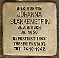 Stolperstein für Johanna Blankenstein (Cottbus).jpg