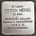 Stolperstein für Matyas Deutsch (Szeged).jpg