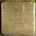 Stolpersteine Krefeld, Thekla Bruckmann (Südwall 34).jpg