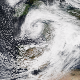Storm Alex Extratropical cyclone in October 2020