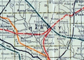 Stouffer's Railroad Map of Kansas 1915-1918 Harvey County.png