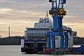 Stralsund, Volkswerft, Scandlines-Fähre Berlin, 2 (2012-01-26) by Klugschnacker in Wikipedia.jpg