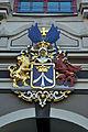 Stralsund, Wappen am Rathaus (2012-04-06), by Klugschnacker in Wikipedia.jpg