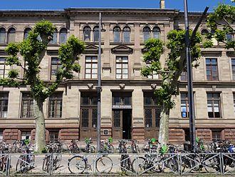 Musée zoologique de la ville de Strasbourg - Main facade of the museum