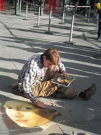 Street artist - Image: Street artist Centre Pompidou