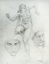 Studies for nymph and satyr, Bouguereau.jpg