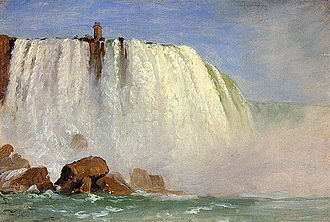 Niagara Falls, from the American Side - One of the studies of the Niagara falls