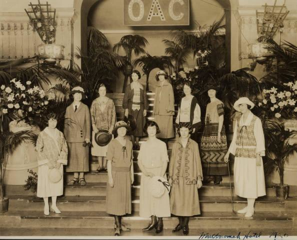Style show at Multnomah Hotel in Portland Oregon 1920