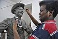 Subimal Das Making Raj Kapoor Sculpture - Kolkata 2017-08-08 4121.JPG