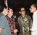 Sumadi, Acup Zainal, and H Amura listening to Asrul Sani at MMPI meeting, Festival Film Indonesia (1982), 1983, p57.jpg