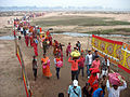 Sun festival, Bodhgaya, riverside.jpg