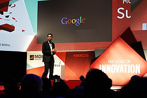 Sundar Pichai - Pichai speaking at the 2015 Mobile World Congress in Barcelona, Spain