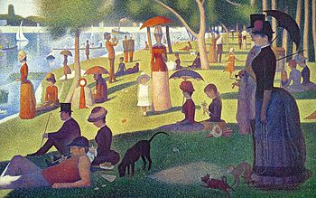 Day in the park imressionist painting
