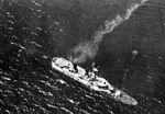 Sunken Japanese submarine tender Jingei in October 1944.jpg