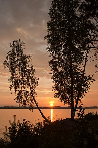 Kuuhankavesi - Image: Sunset over the Kuuhankavesi, Hankasalmi