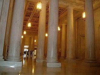 Sylacauga marble - Image: Supreme Court Wade 33