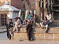 Sur la place du temple (Bungamati, Népal) (8629060308).jpg