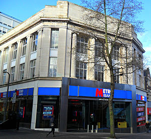 Metro Bank (United Kingdom) - Image: Sutton, Surrey London Sutton High Street Metro Bank