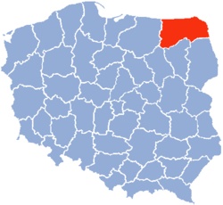 Location of Suwałki