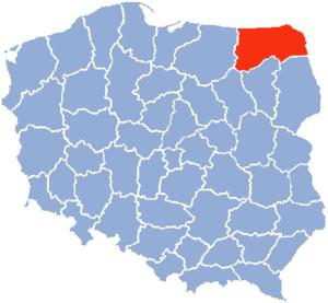 Suwałki Voivodeship - Map of the People's Republic of Poland in 1975 with the Suwałki Voivodeship.