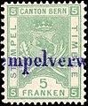 Switzerland Bern 1886 revenue 5fr - 34A.jpg