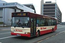TM Travel bus Dennis Dart SPD Plaxton Pointer S779 RNE in Sheffield 24 March 2009.jpg
