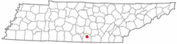 Location of Decherd, Tennessee