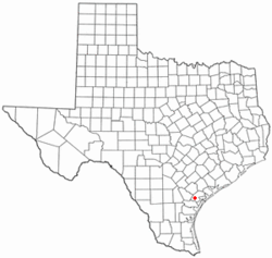 Location of Woodsboro, Texas