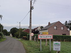 Taillette (Ardennes) city limit sign.JPG