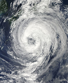 Typhoon Talas approaching Japan on September 1, 2011.