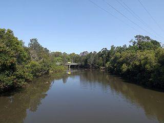 Tallebudgera Creek river in Queensland, Australia