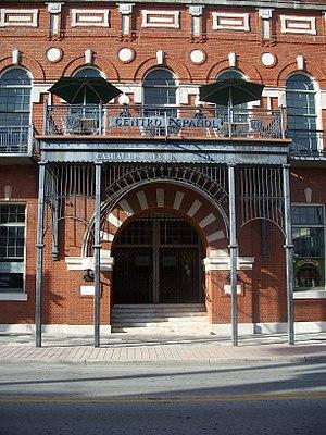 El Centro Español de Tampa - El Centro Español de Tampa  Moorish styled front entry