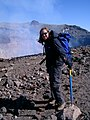 Tamsin Mather at the summit of Villarrica volcano, Chile.jpg