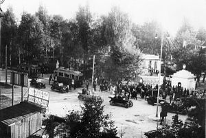Polish culture in the Interbellum - Eastern Trade Fair (Targi Wschodnie), main entrance; Lwów (now Lviv, Ukraine)