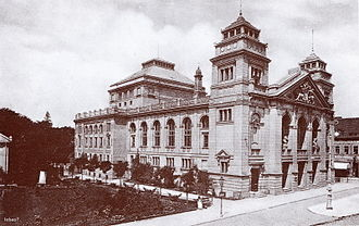 Municipal Theatre in Bydgoszcz - View of the theatre from Theatre square in 1900