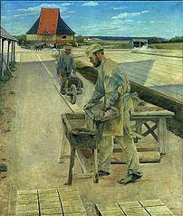 Teglværksarbejdere. Ladby teglværk
