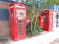 Telephone booths and postbox at Exchange Quay, Salford (1).JPG