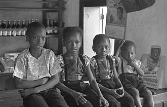 Temne people - Temne children in Kabala in 1968