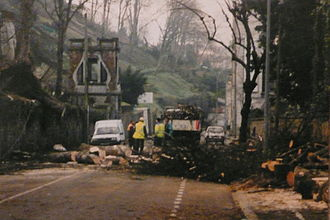 Cyclones Lothar and Martin - Image: Tempete 1999 angouleme