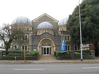 Jews in Wales - The former Cardiff Synagogue on Cathedral Road. This synagogue is now an office block