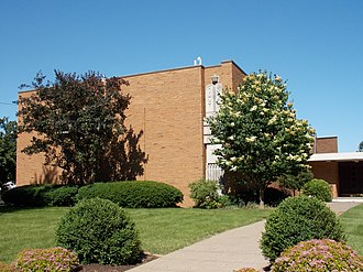 Temple Emanuel (Davenport, Iowa) - Mississippi Avenue facade