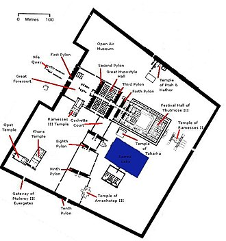 Precinct of Amun-Re - Map of the Amun-Re Temple