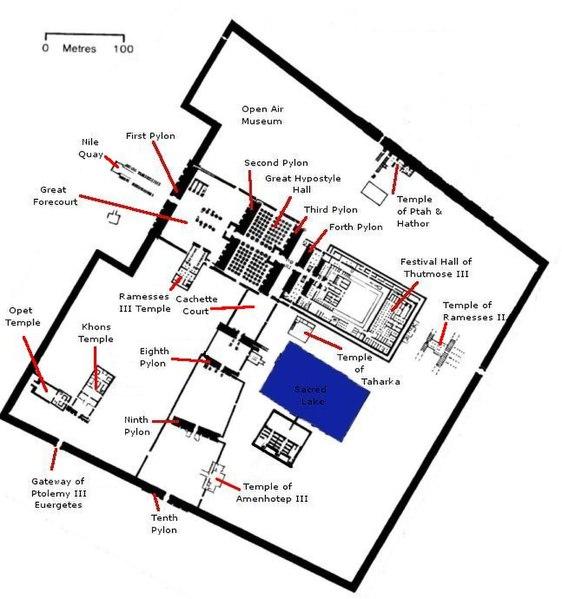 Temple of Karnak Plan