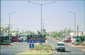 La grand-rue de Tennant Creek