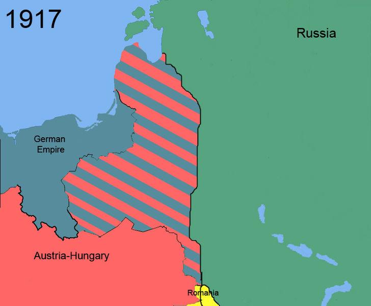 Archivo: Cambios territoriales de Polonia 1917.jpg