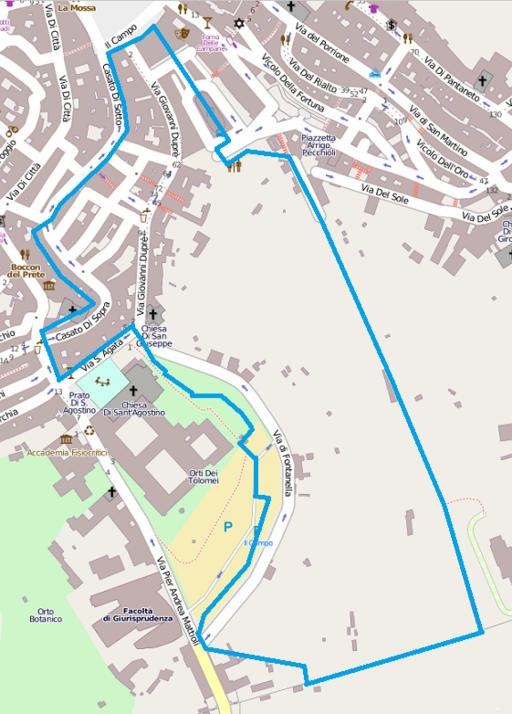 Territorio contrada dell'Onda, Siena