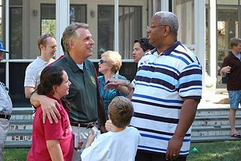 Terry McAuliffe and State Senator Donald McEac...