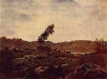 Barbizon landscape, ca. 1850